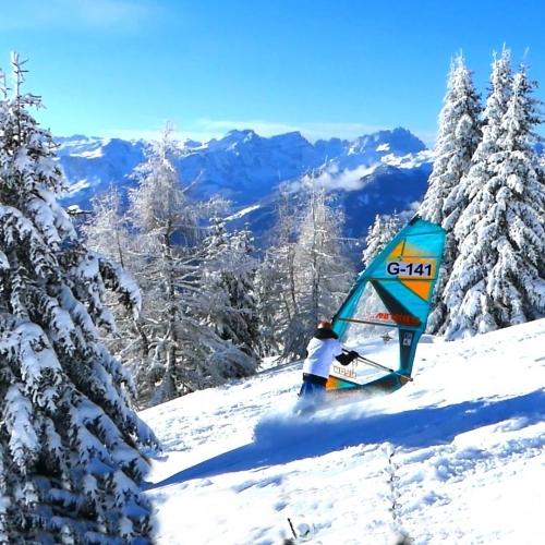 GUNSAILS | Nick Spangenberg windsurfing on snow