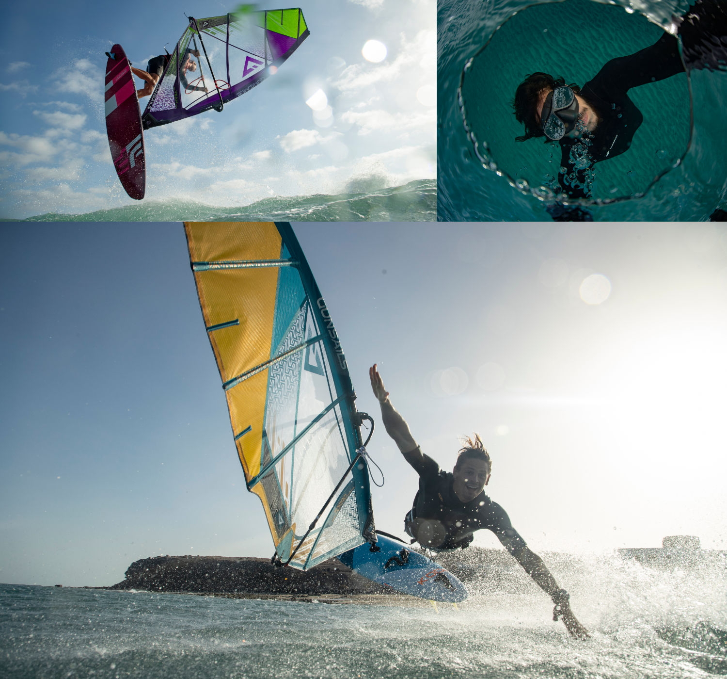 GUNSAILS | Seal Membrane - Windsurf Wave Segel in Membrane Konstruktion