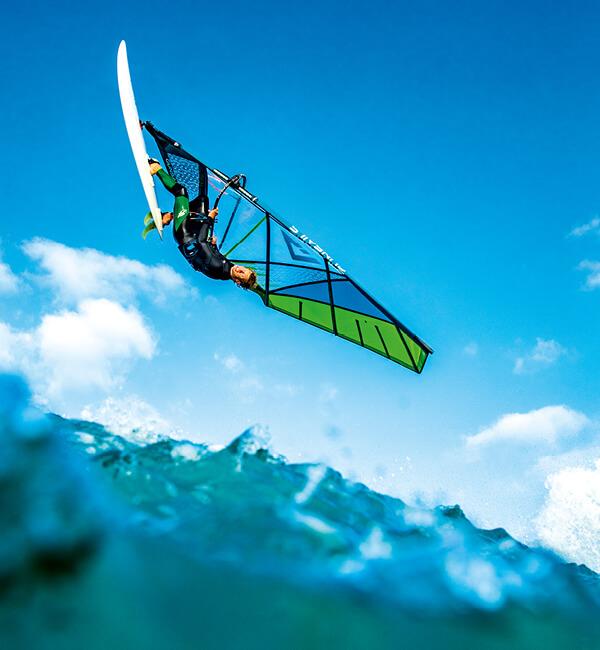 Günstiges Wave Segel, Carbon Mast und Gabelbaum zum Windsurfen