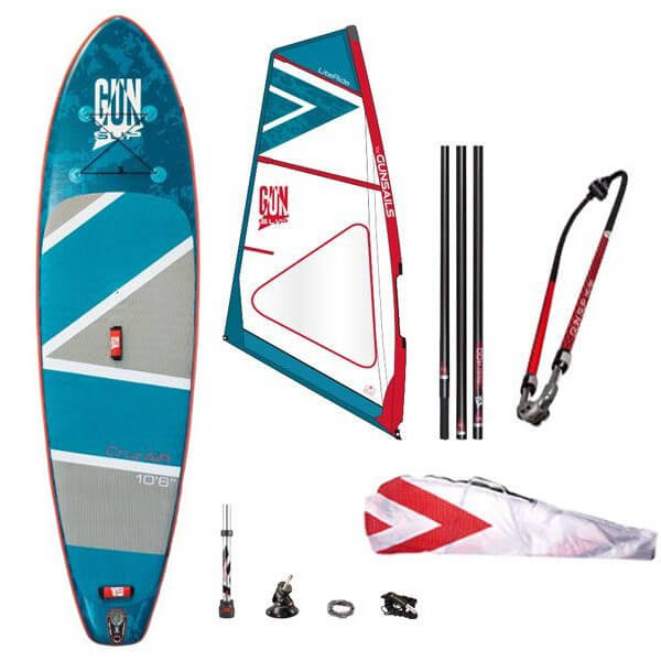 GUN SUP | SUP und Windsurf Set - Stand Up Paddlen und Windsurfen