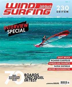 GUNSAILS | Test Report Wave Sail Horizon 2020 Windsurfing Jahrbuch