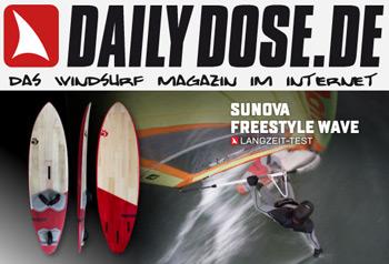 Testbericht Windsurf Board Sunova Freestyle Wave Daily Dose