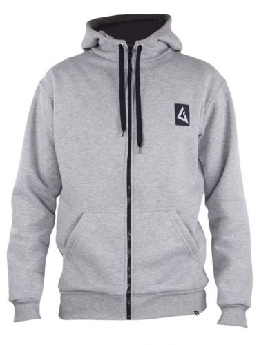 Gunsails windsurf team wear Zip Hoodie grey