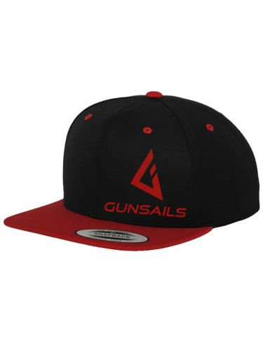 Gunsails windsurf team wear logo snapback cap black red